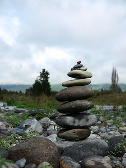 Balance, Turangi, New Zealand, Nz, River, Stones