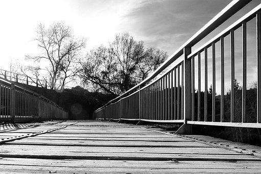 Bridge, Valdeganga, Old, Sun, Sunset, Evening Sun