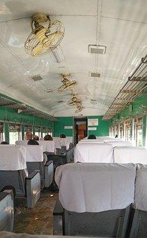 Myanmar, Train, First, Class, Fans