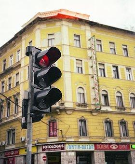 Traffic Lamp, Urban, Budapest, Traffic, Lamp, Light