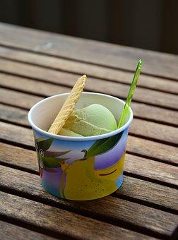 Ice Cream Sundae, Ice Cream, Ice, Waffle, Sweet, Summer