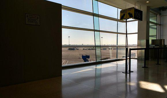 Airport, Interior, Inside, Window, Departure, Checkin