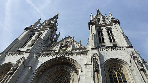Antwerp, Belgium, Church, Architecture, Facade