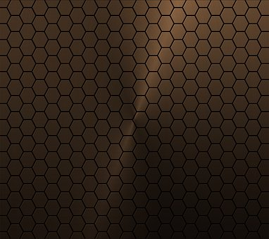 Copper Honeycomb, Background, Vector