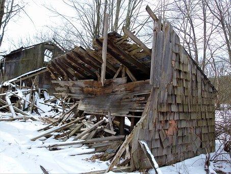 Abandoned Farm, Abandoned, Old, Building, Rural, Broken