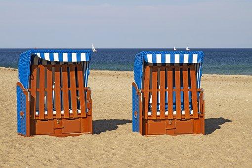 Clubs, Beach, Sand, Sea, Sky, Baltic Sea, Coast