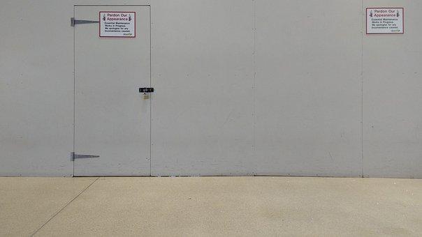Site, Barrier, Notes, Warning, Door, Wall, Ground