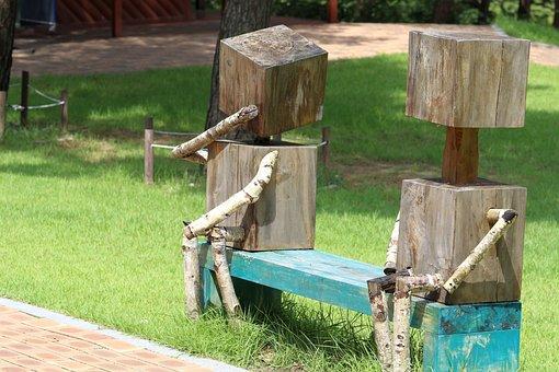 Park, Wood, Man, Bench, Landscape, Nature, Walk, Forest