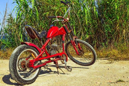 Moped, Improvised, Makeshift, Vehicle, Motorbike