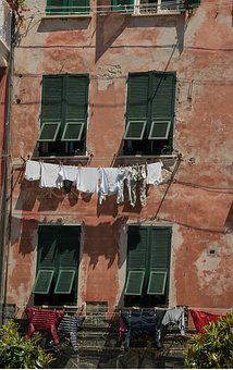 Italy, Shutters, Dryer, Laundry
