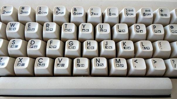 C64, Keyboard, Retro, Old, Machine, Alphabet