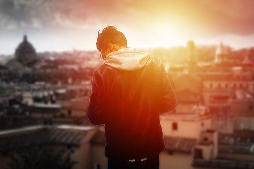 Man, Boy, Sun, Shine, Attitude, Day, Hdr