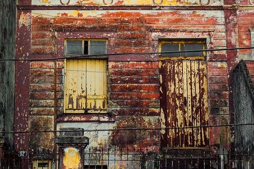 Old, Vintage, Former, Door, Home, Worn, Ink, Old Paint