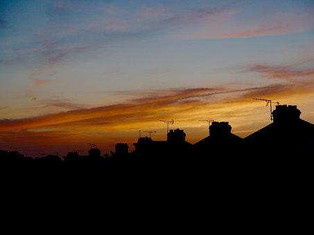 Sunset, Redsky, Dusk, Evening, Weather, Orange