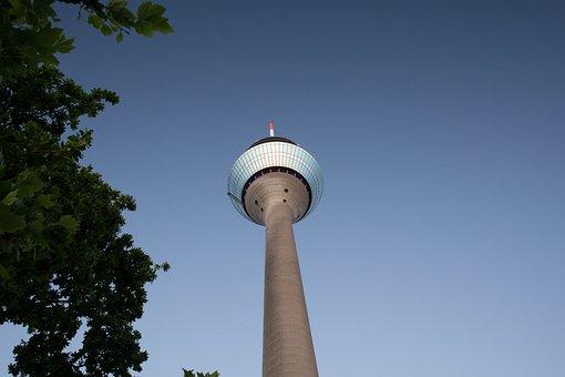 Media Harbour, Rhine Tower, Düsseldorf, Tv Tower