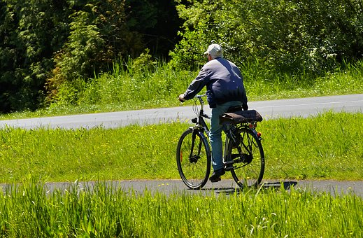 Cyclists, Rural, Commute, Road, Cycle Path, Idyllic