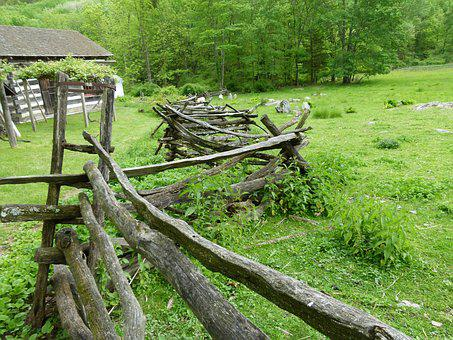 Split Rail Fence, Farmhouse, Colonial, Farm, Rustic