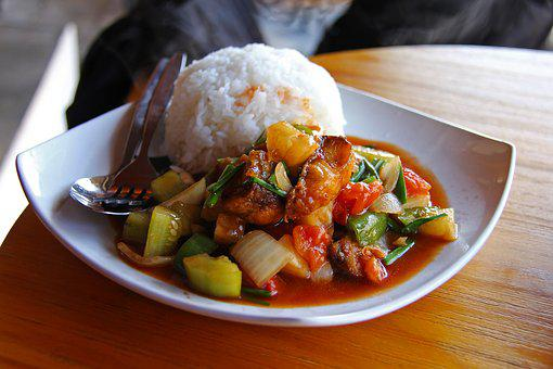 Rice, Fried Fish, Sweet And Sour Fish, Yummy, Tasty