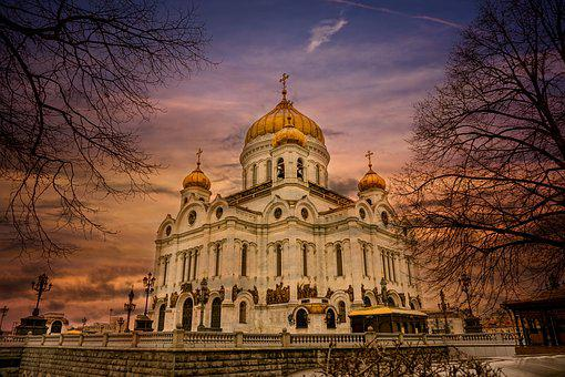 Cathedral, Temple, Orthodox, Russia, Moscow, Travel