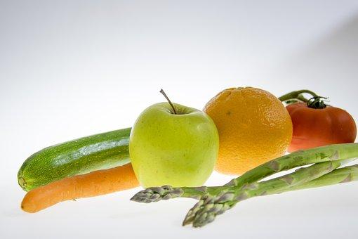 Fruit, Apple, Food, Asparagus, Tomato, Zuccini, Carrot