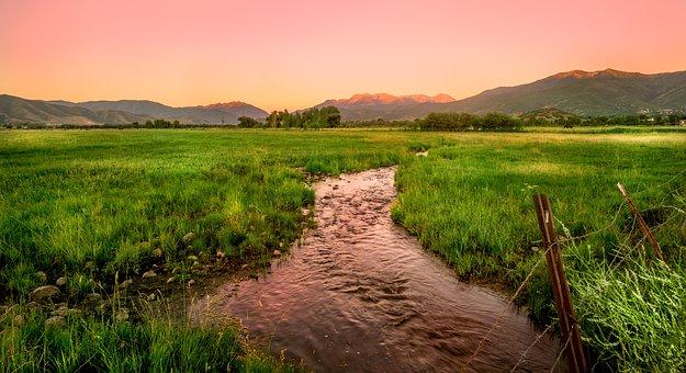 Utah, Creek, River, Nature, Landscape, Southwest