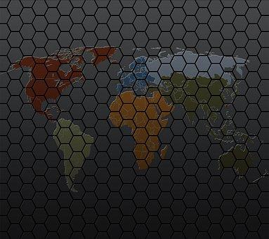 World Honeycomb, Background, Vector