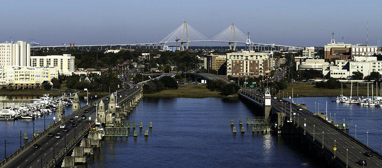 Charleston, South Carolina, Bridges, Historic, Water
