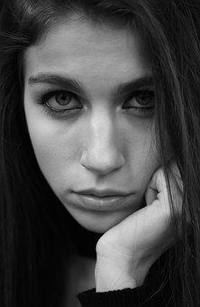 Women's, Model, Beautiful, Make-up, Face, Photography