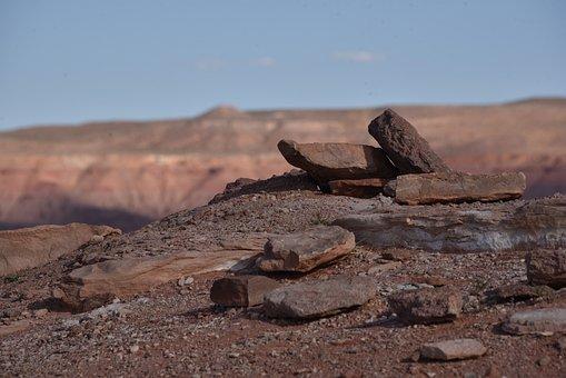 Rockpile, Monument Valley, Desert, Rocks, Pile, Zen