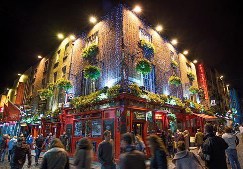 Temple Bar, Pub, Bar, Beer, Cafe, Dublin, Drink