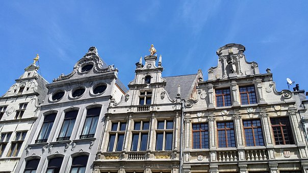 Antwerp, Grand Place, Facade, Old, Belgium
