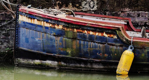 Boat, Rust, Old, Rusting, Iron, Metal, Corrosion, Dock