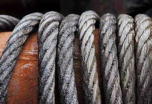 Cable, Drum, Grime, Wound, Metal, Iron, Steel, Laid