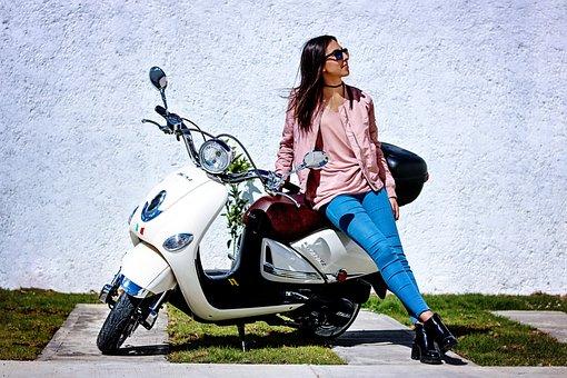 Bike, Scooter, Vintage, Girl, Transportation, Wheel