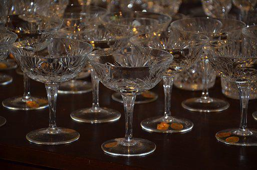 Crystal, Glasses, Glass, Drink Ware, Leaded
