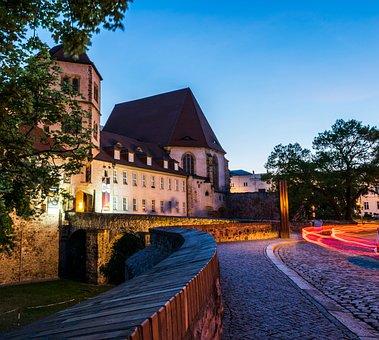 Hall, Halle Germany, Blue Hour, Moritz Castle