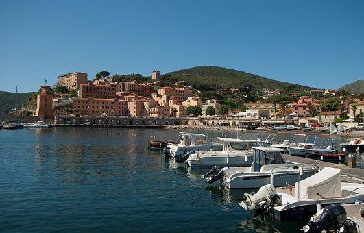 Italy, Island Of Elba, Rio Marina, Port