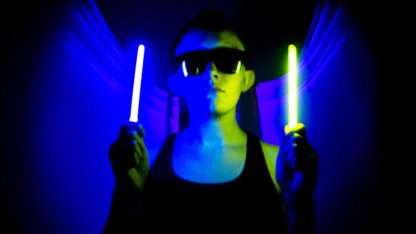 Glow, Sticks, Light, Glowing, Dark, Bright, Party