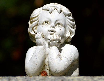 Little Angel, Garden, Figure, Ornament