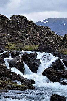 Waterfall, River, White, Landscape, National Park