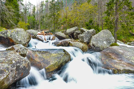 Water, Nature, Mountains, Green, The Stones, Stone