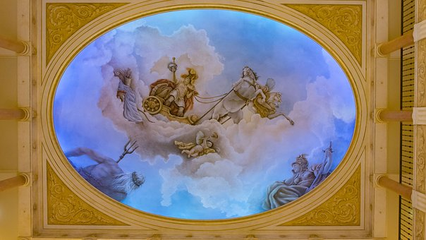 Ceiling, Painting, Art