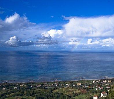 Sea, Calabria, Paola, Clouds, Tyrrhenian, Sky