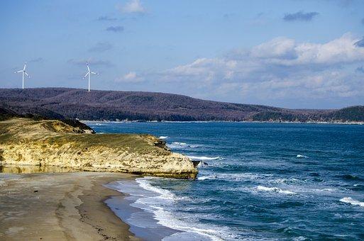 Marine, Landscape, Sunset, Rocky, Sky, Beach