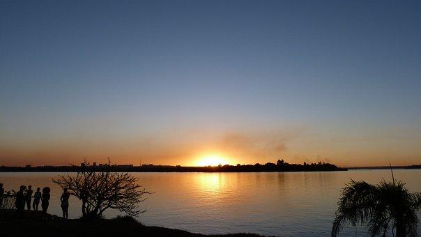 Sol, Eventide, Sunset, Landscape, Agua, Sky, Horizon