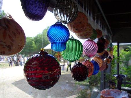 Glass Ball, Art, Ball, Glass, Sphere, Light, Design