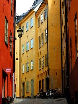 Stockholm, Gamla Stan, Old Town, Street, Architecture
