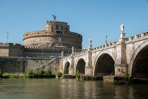 Rome, Castle Saint-angel, Tiber, Bridge