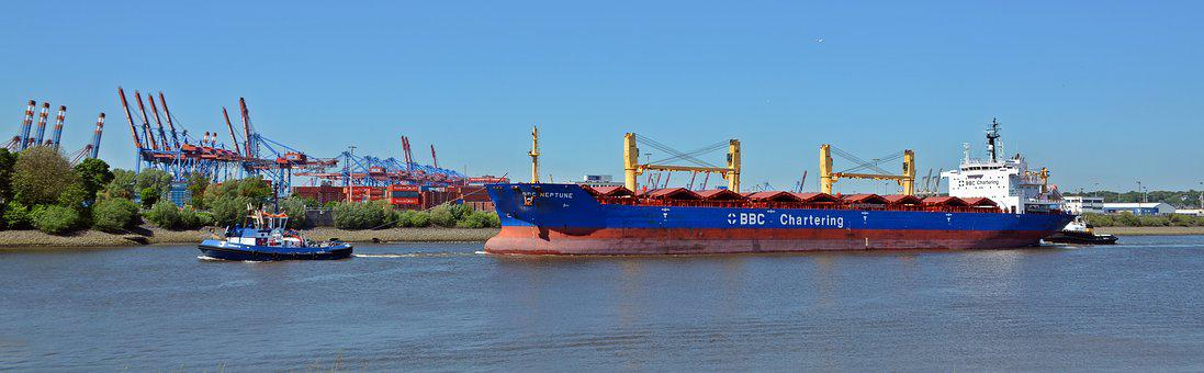 Freighter, Tug, Transport, Ship, Maritime, Hamburg