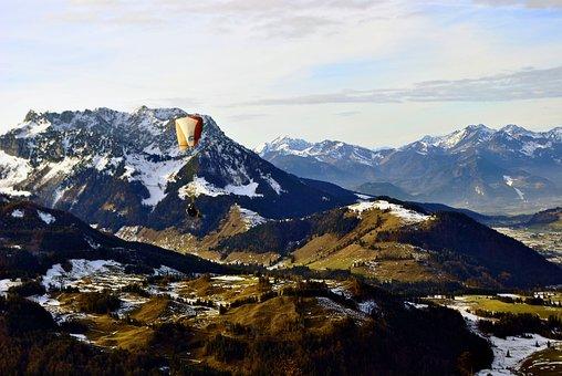 Mountains, Austria, Kössen, Valley, Landscape